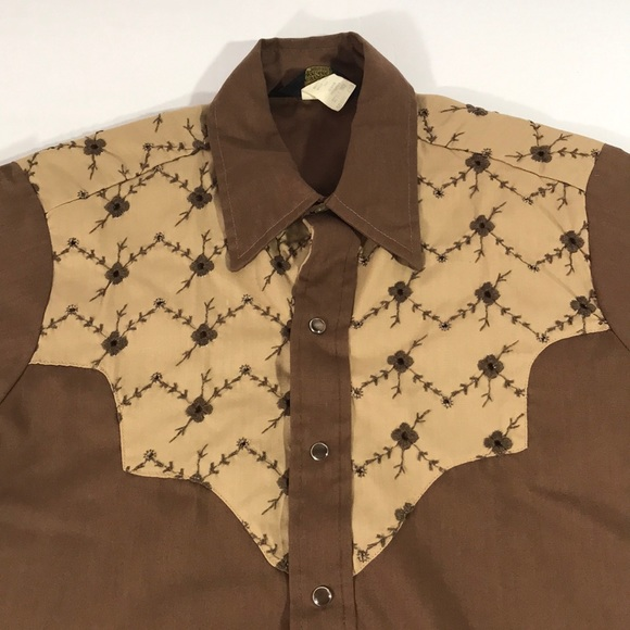 4283a92a Sears Shirts | Vintage Western Wear Snap Button Shirt Small | Poshmark